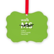 Walk to create a world free of MS Ornament