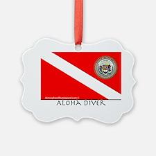 Aloha Scuba Diver Down Flag Ornament