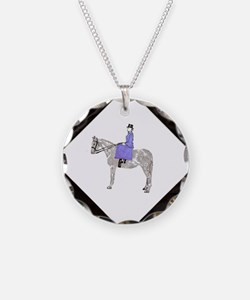 Hand Painted SideSaddle Ride Necklace