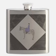 Hand Painted SideSaddle Rider Flask