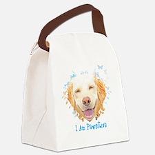 I Am Pawsitive (Button/Magnet) Canvas Lunch Bag