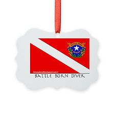 Nevada Battle Born Scuba Diver Fl Ornament