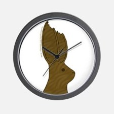 Chocolate Bunny Ears  Wall Clock