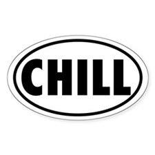 CHILL Oval Decal