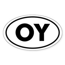 OY Oval Decal