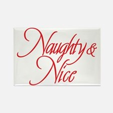 Naughty and Nice Rectangle Magnet