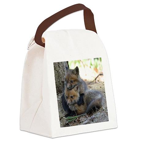 kits head on sib Canvas Lunch Bag