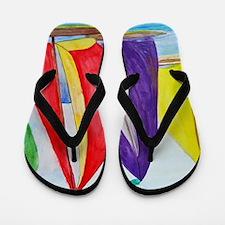 Colorful Regatta Sails Flip Flops