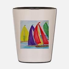 Colorful Regatta Sails Shot Glass