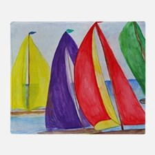 Colorful Regatta Sails Throw Blanket