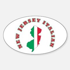 New Jersey Italian Oval Decal