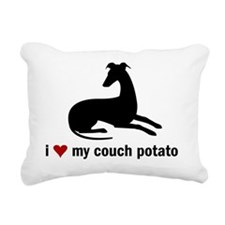 I Love my Couch Potato W Rectangular Canvas Pillow