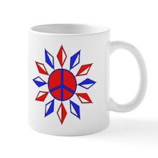Red, White, and Blue Peace Mug