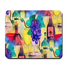 The Grape Escape Wine Mousepad