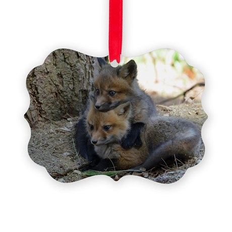 kits head on sib Picture Ornament