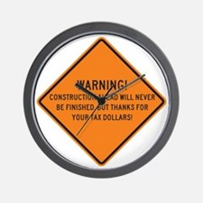 WARNING! This Will Never Be Finished! Wall Clock