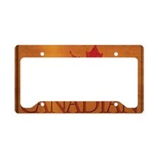 Proud to be Canadian License Plate Holder