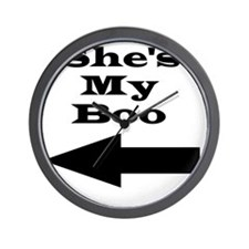 Shes My Boo Wall Clock