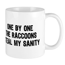 One By One The Raccoons Mug