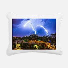 Lightning Dance Rectangular Canvas Pillow