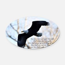 Isaiah 40:31 Eagle Soaring Oval Car Magnet
