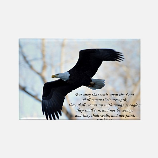 Isaiah 40:31 Eagle Soaring Rectangle Magnet