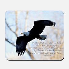 Isaiah 40:31 Eagle Soaring Mousepad