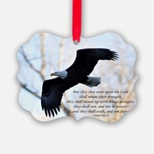Isaiah 40:31 Eagle Soaring Ornament