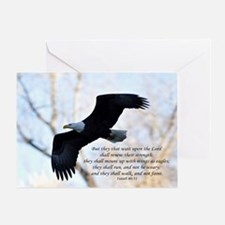 Isaiah 40:31 Eagle Soaring Greeting Card