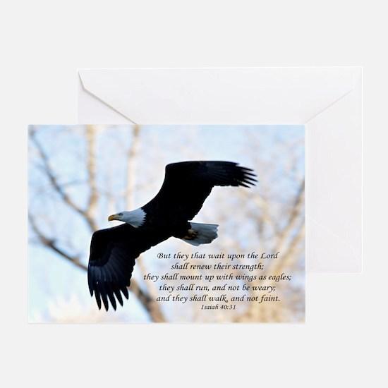 Isaiah 40:31 Eagle Soaring Greeting Card