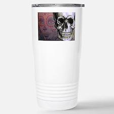Skull with Dia de los M Travel Mug