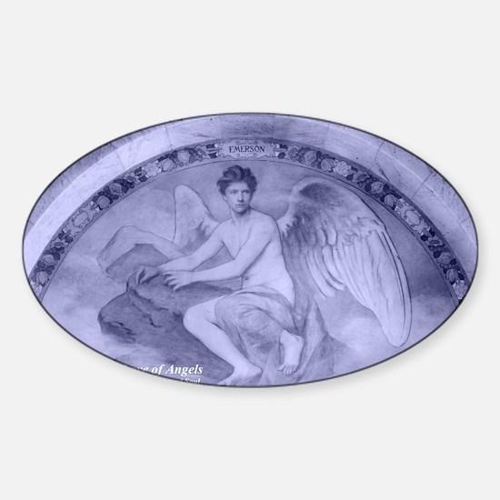 Archangel Uriel Sticker (Oval)