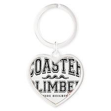 Coaster Heart Keychain