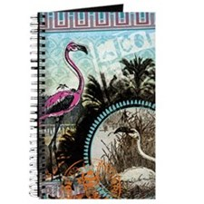 Vintage Pink Flamingo Journal