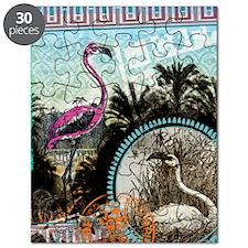 Vintage Pink Flamingo Puzzle