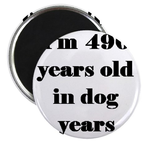 70 dog years 3-3 Magnet