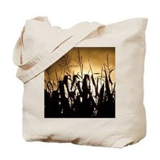 Corn field silhouettes Tote Bag