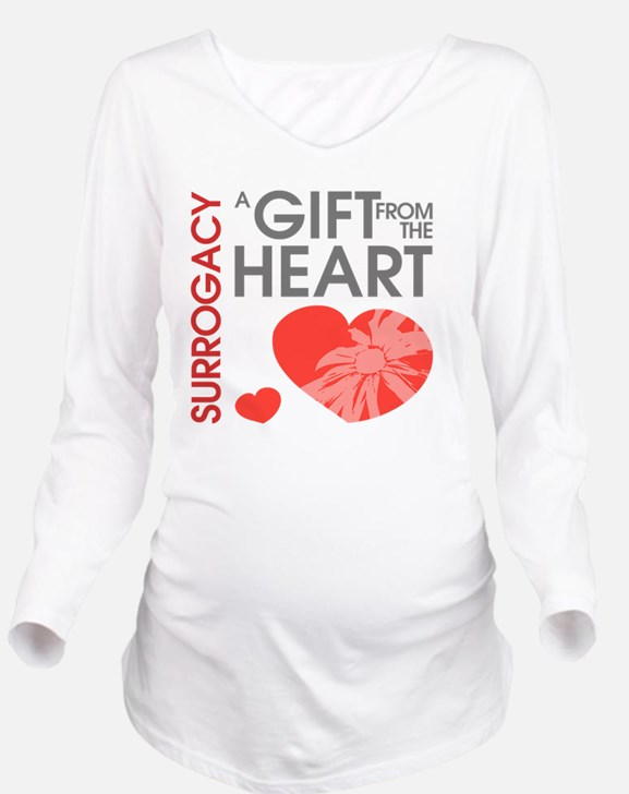 Surrogacy A Gift fro Long Sleeve Maternity T-Shirt