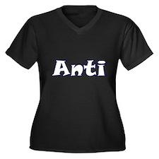Anti Attitude Women's Plus Size V-Neck Dark T-Shir