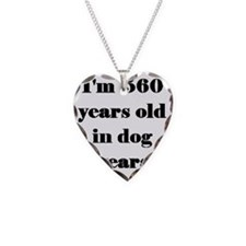 80 dog years 3-3 Necklace