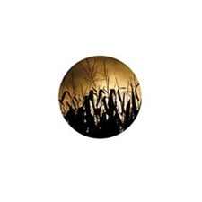 Corn field silhouettes Mini Button