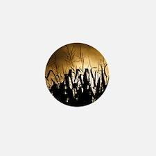 Corn field silhouettes Mini Button