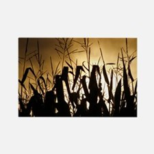 Corn field silhouettes Rectangle Magnet