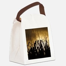 Corn field silhouettes Canvas Lunch Bag