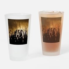 Corn field silhouettes Drinking Glass
