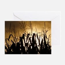 Corn field silhouettes Greeting Card