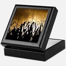 Corn field silhouettes Keepsake Box