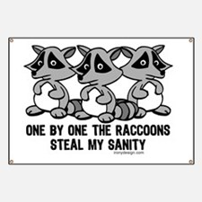 One By One The Raccoons Banner