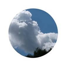 """Poodle in Clouds? 3.5"""" Button"""