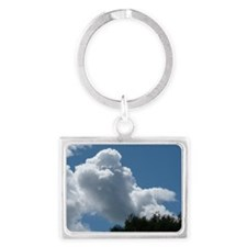 Poodle in Clouds? Landscape Keychain